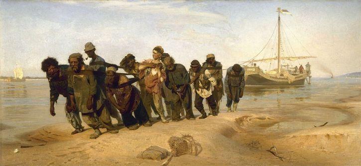 Ilya Repin, Barge Haulers on the Volga