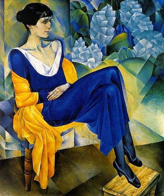 Portrait of Anna Akhmatova, 1914 by Natan Altman