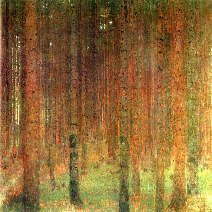 Klimt -pine-forest