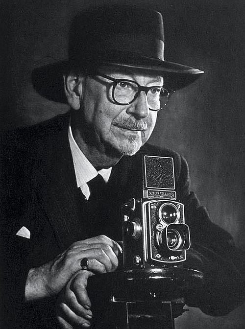 E. Chambré Hardman with Rolleiflex