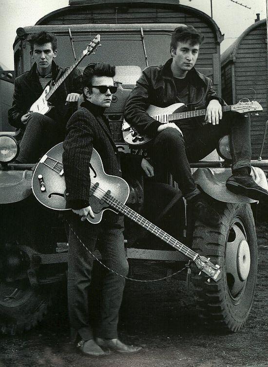 Stuart, John & George, Hamburg 1960-61, by Astrid Kirchherr