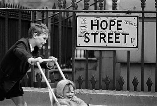 Street sign, Liverpool, 1966