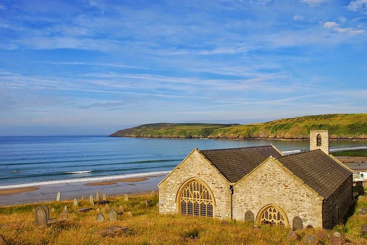 The church at Aberdaron