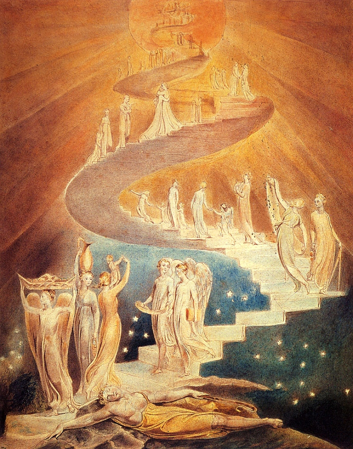 William Blake, Jacob's Ladder, c 1799