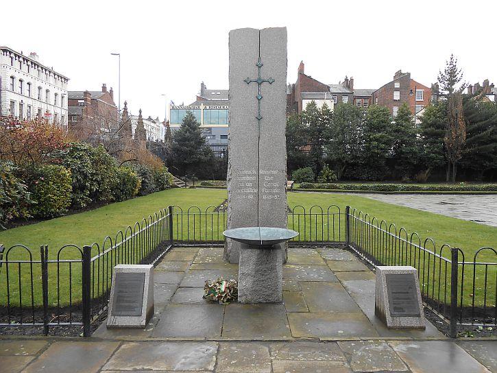 Irish Famine monument in St Lukes