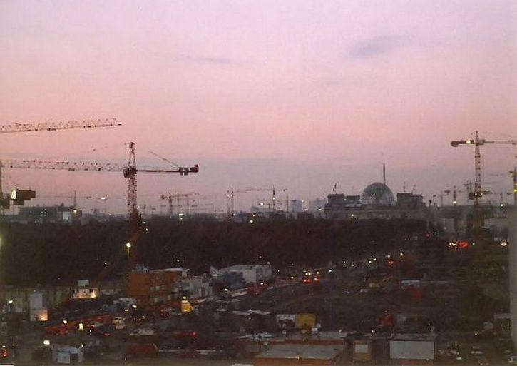 Berlin skyline in 1999 - massive construction work going on