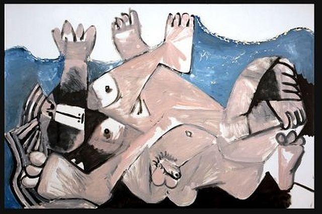 Picasso,  The Embrace (Étreinte), 1972