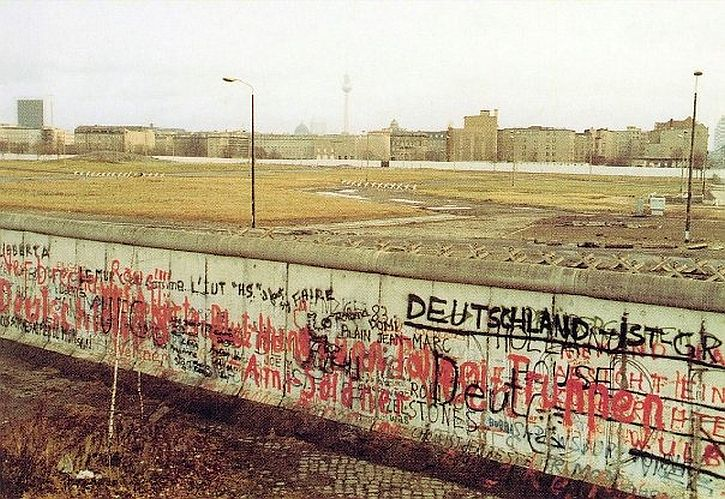 The Wall at Potsdamer Platz - postcard