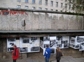 Topography of Terror open-air exhibition spring 1998.