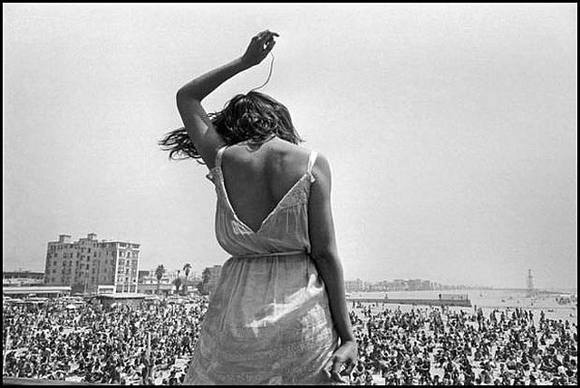 dancing hippy at Venice Beach by Dennis Stock