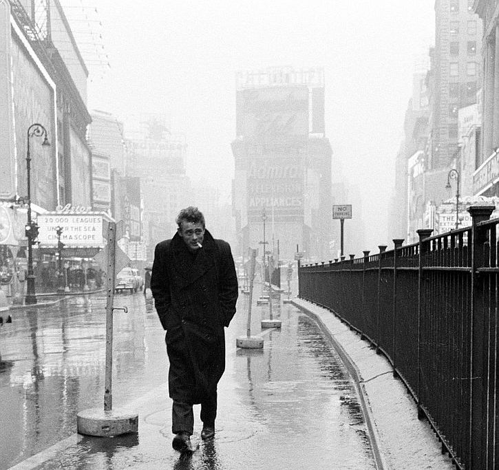 James Dean, Times Square, 1955 by Dennis Stock