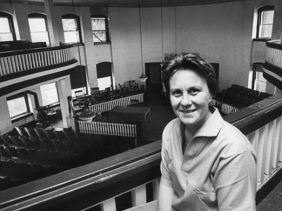 Harper Lee in the Monroeville courthouse