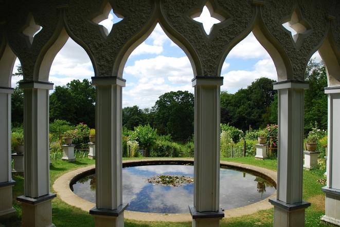 Painswick Rococo Gardens The Exedra view