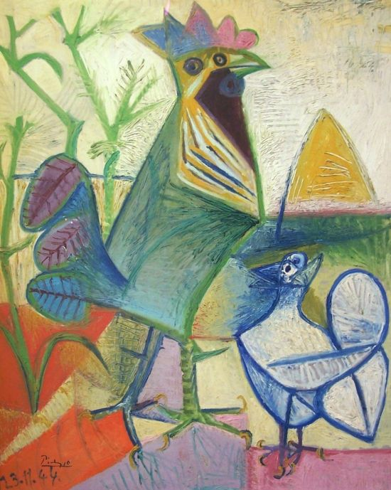 Picasso Cockerel of the Liberation 1944