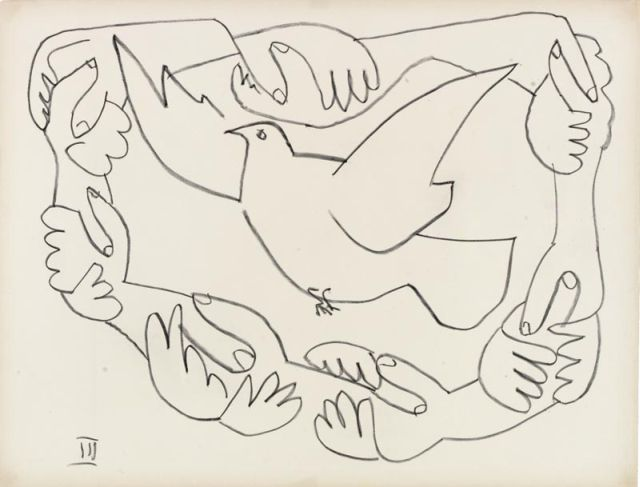 Picasso Hands Entwined