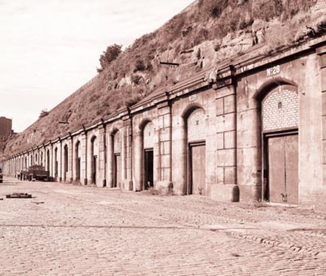 The casemates at Herculaneum Dock. They were used to store dangerous materials like petroleum