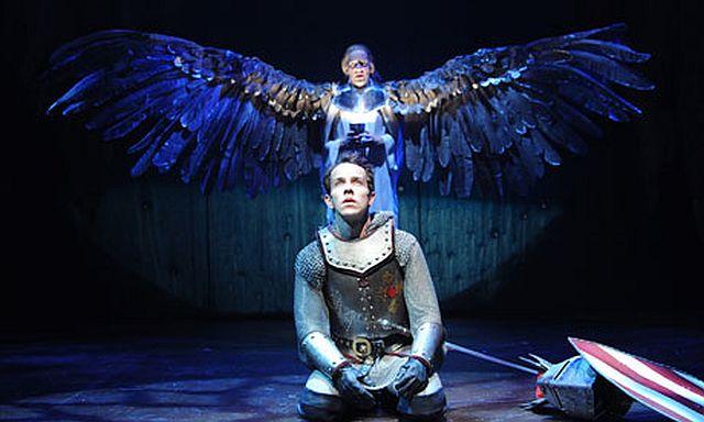 Jonjo O'Neill as Launcelot and James Howard as the Grail Angel in Morte d'Arthur