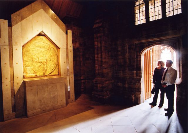 Mappa-mundi Hereford cathedral