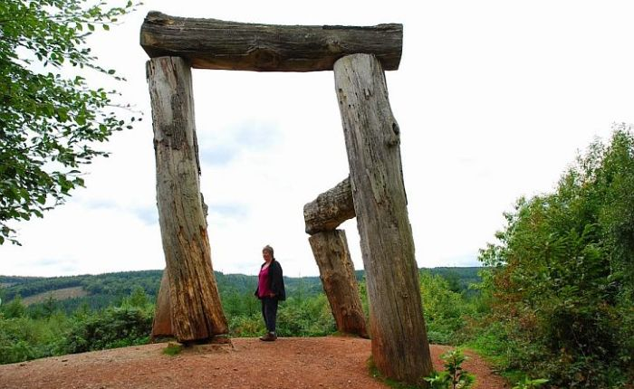 Forest of Dean sculpture:  retracing oursteps