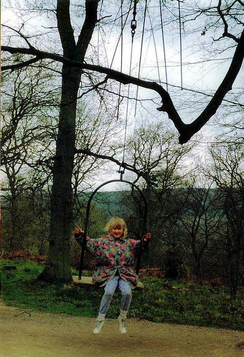Sarah on Melissa's Swing in 1992