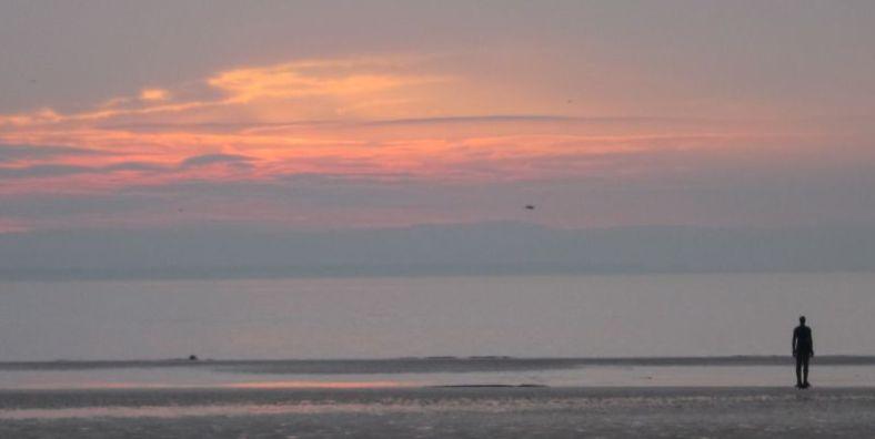 Crosby beach December sunset 2