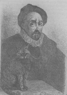 Montaigne and cat