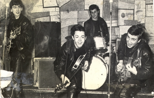 The Beatles (with Pete Best at drums) playing the Cavern Club, DEcember 1961