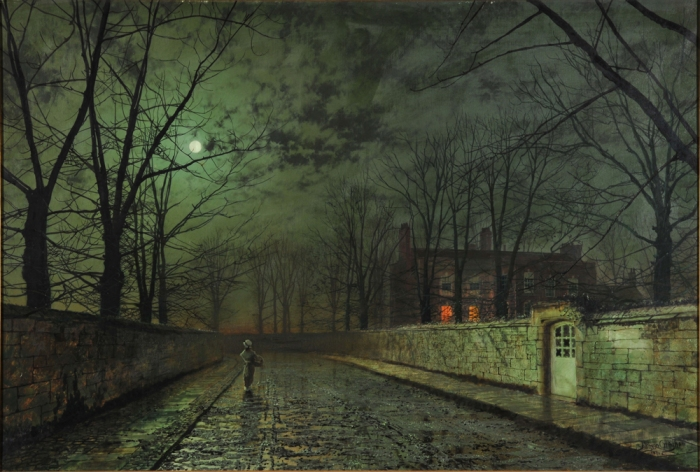 Atkinson Grimshaw: mystery in the moonlight