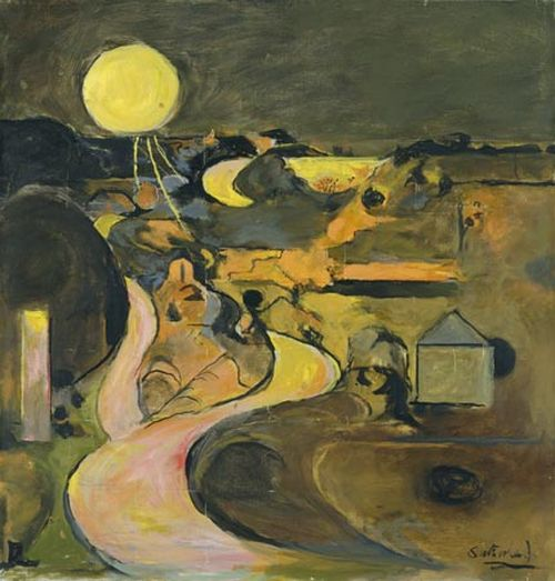 Graham Sutherland Road to Porthclais with setting sun