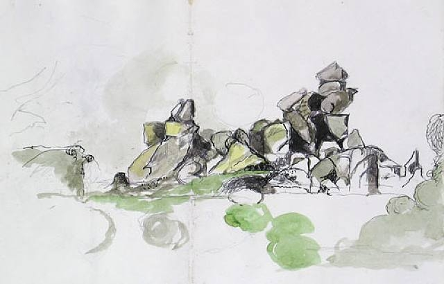 Graham Sutherland Rocks on a beach