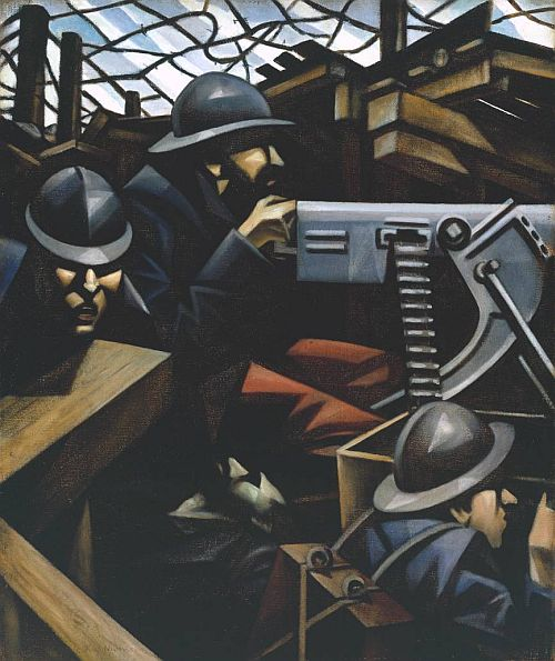 La Mitrailleuse 1915 by Christopher Richard Wynne Nevinson