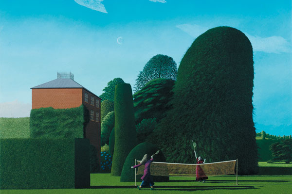 David Inshaw, The Badminton Game, 1972
