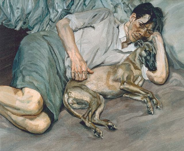 Lucian Freud Double Portrait 1988
