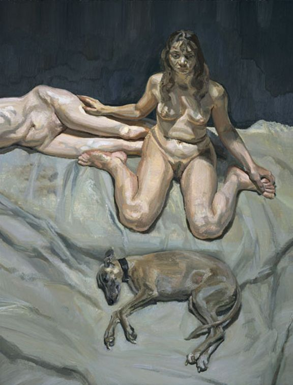 Lucian Freud Pluto and the Bateman Sisters, 1995