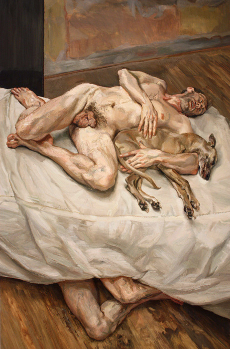 Lucian Freud Sunny Morning - Eight Legs, 1997