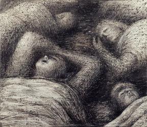 Henry Moore- Four Grey Sleepers 1941