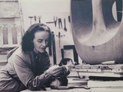 Barbara Hepworth in her studio
