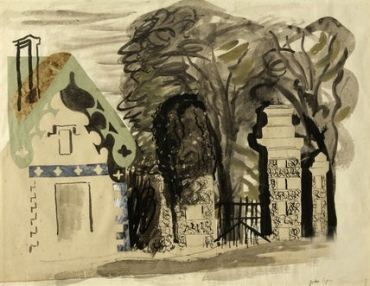 John Piper - Entrance to Fonthill 1940