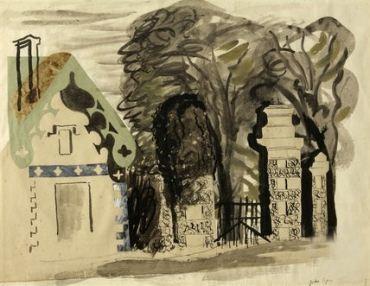 John Piper - Entrance to Fonthill 1940