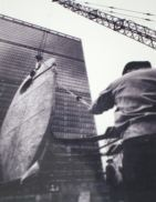 Single Form being hauled into position at the UN