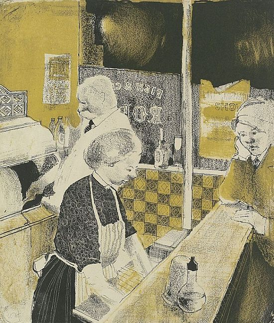 Hockney, Fish and Chip Shop, 1954