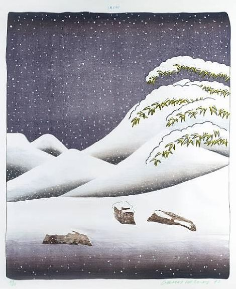 Hockney, Weather Series – Snow