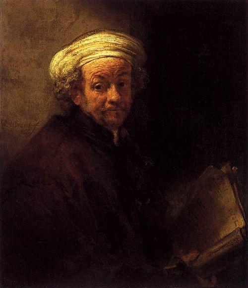 Rembrandt, Self Portrait as the Apostle Paul