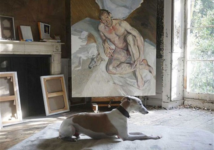 Freud's last painting, with Eli by David Dawson