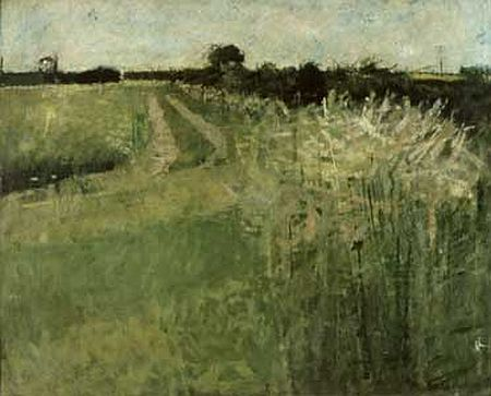 Hockney,   Fields, Eccleshill , 1956