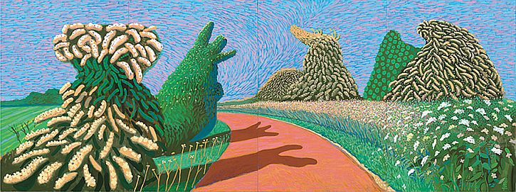 Hockney, May Blossom on the Roman Road, 2009