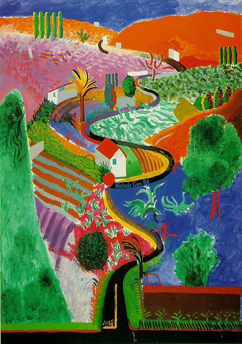 Hockney, Nichols Canyon, 1980