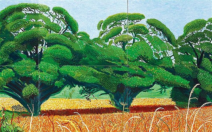 Hockney, Three Trees near Thixendale, Summer 2007