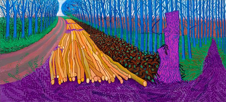 Hockney, Winter Timber, 2009