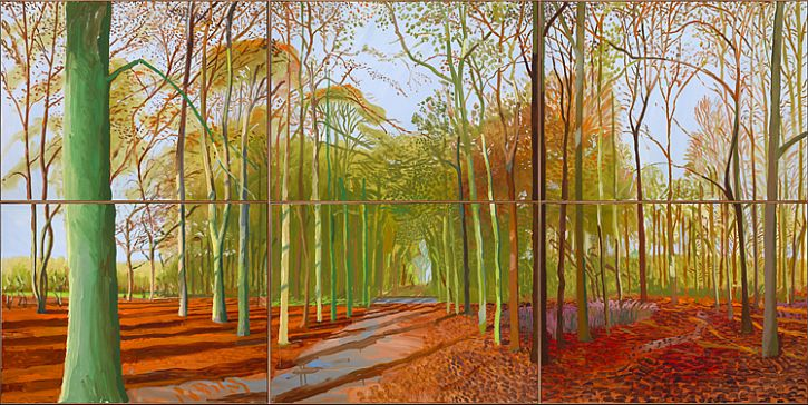 Hockney, Woldgate Woods, 21, 23 & 29 November 2006